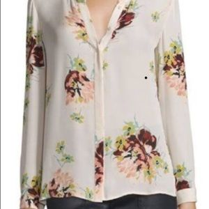 Joie silk blouse with floral pattern.